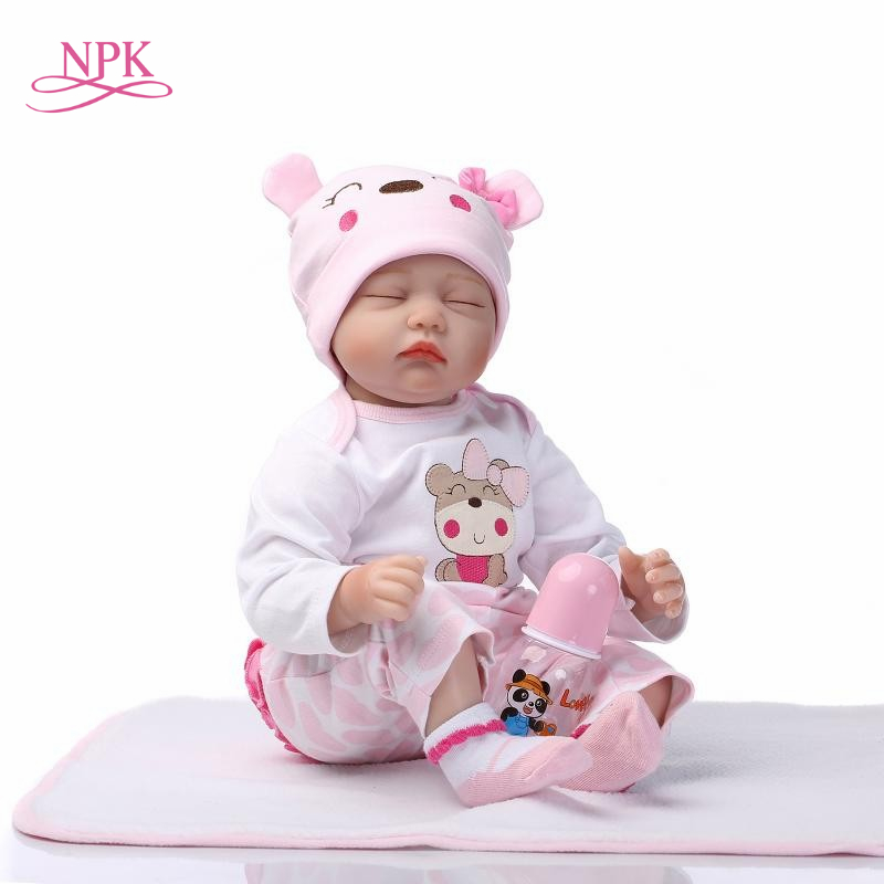 NPK 18inch 43cm soft Silicone adora doll reborn dolls lifelike realista bonecas Fashion plamates holiday gift