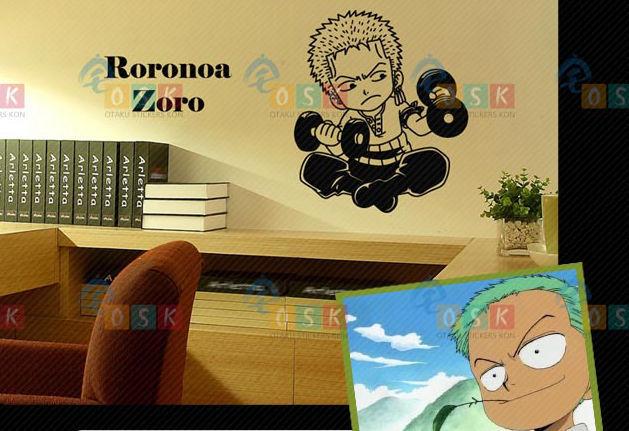 Pegatina Anime Cartoon Car Sticker ONE PIECE ZORO Eiichiro Oda Vinyl Wall Stickers Decal Decor Home Decoration 001