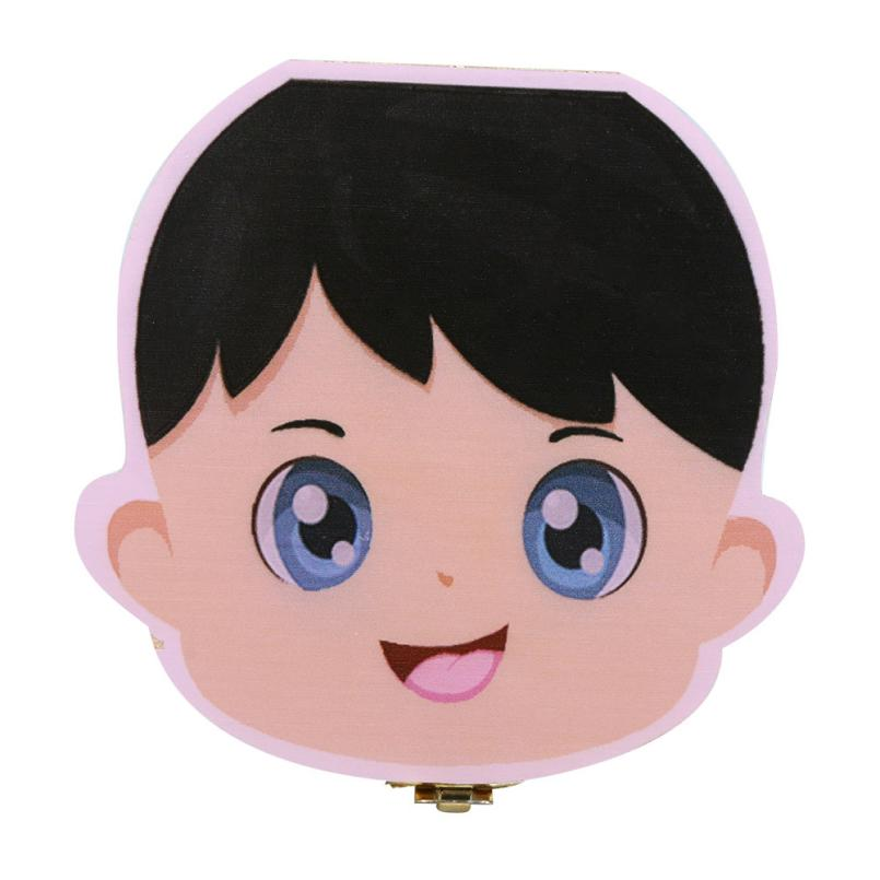 High Quality Tooth Box Organizer for Baby Milk Teeth Save Wood Storage Box for Kids Boy&Girl English Spanish 706 levert dropship