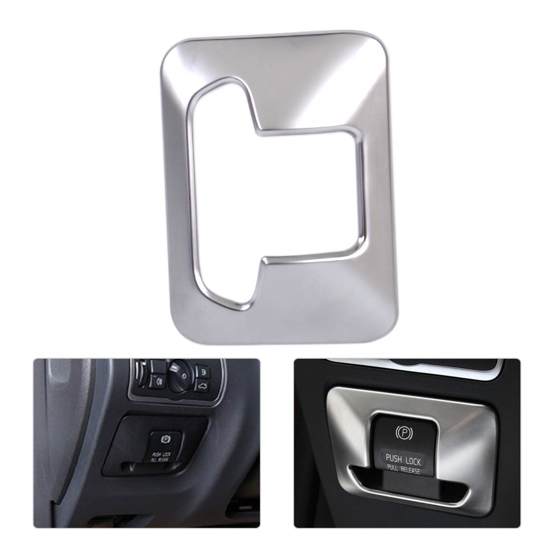Car Styling Chrome Plated Electronic Handbrake Button Panel Trim Cover fit for Volvo XC60 V60 XC70 S60 S80 2010 - 2013 2014 2015
