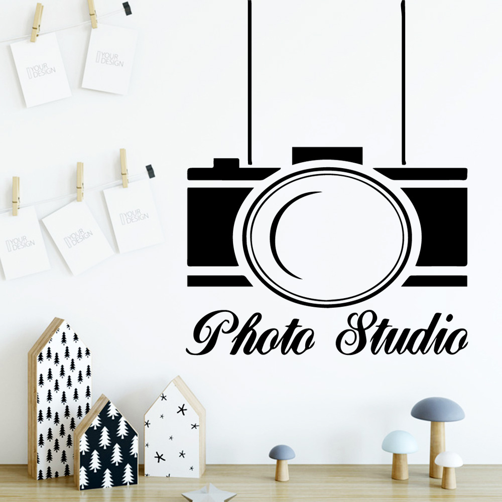 Beauty Camera Wall Art Decal Sticker Mural Decor Living Room Bedroom Removable Diy Pvc Home Decoration