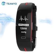 Teamyo P3 Samrt Smart bracelet montres la pression artérielle moniteur de fréquence Cardiaque Fitness bracelet montre Intelligente Activité tracker GPS