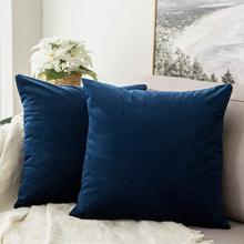 Decorative Velvet Throw Pillow Cover Soft Comfortable Soild Square Cushion Case for Sofa Bedroom Car