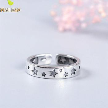 Flyleaf 925 Sterling Silver Personality Stars open Rings For Women High Quality Fashion Jewelry Femme