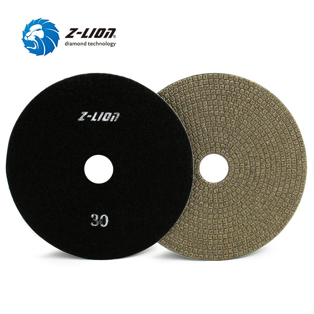 5 Inch Vacuum Brazed Diamond Gringing Pads by Z-Lion for Granite Glass Concrete Ceramics Hard Materials