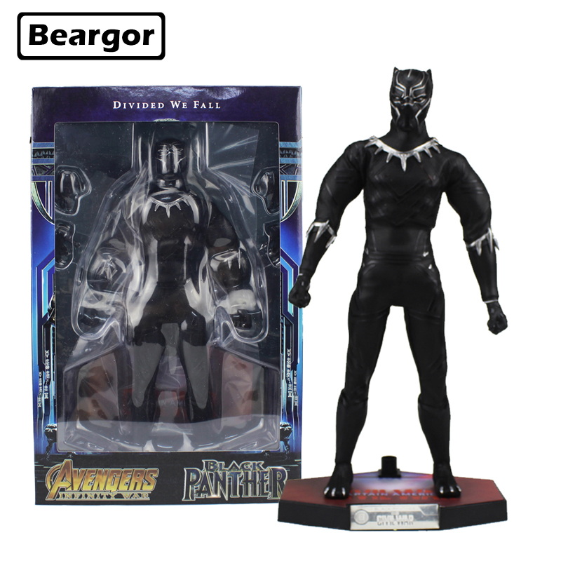 12 inch Marvel Super Hero Avengers Infinity War Black Panther Real Cloth Boxed 30cm PVC Anime Action Figure Model Doll Toys Gift free shipping 10 pa kai super hero black panther t challa boxed 26cm pvc action figure collection model doll toy gift