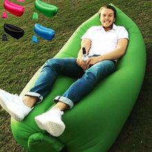 Inflatable Bean Flatfish Sleeping Bed Sofa Air Bag Outdoor Beach Picnic Camping Hiking Outdoor Sun Lounge Chairs Free Shipping
