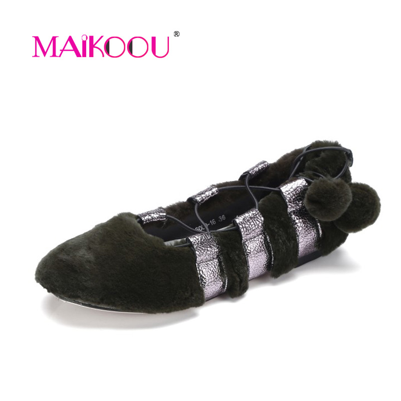 ФОТО Fashion luxury Women flat shoes Seto rabbit  pigskin Brand Women shoes Ballet Flats DD6