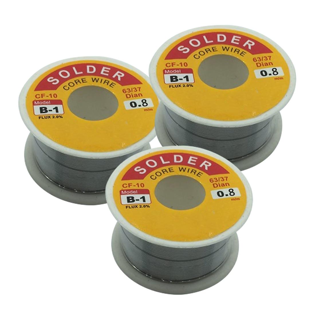 Top 0.8mm 50g Rosin Core Solder 63/37 Tin Lead Flux Soldering For Welder Iron Wire Reel Soldering Iron Wires Welding