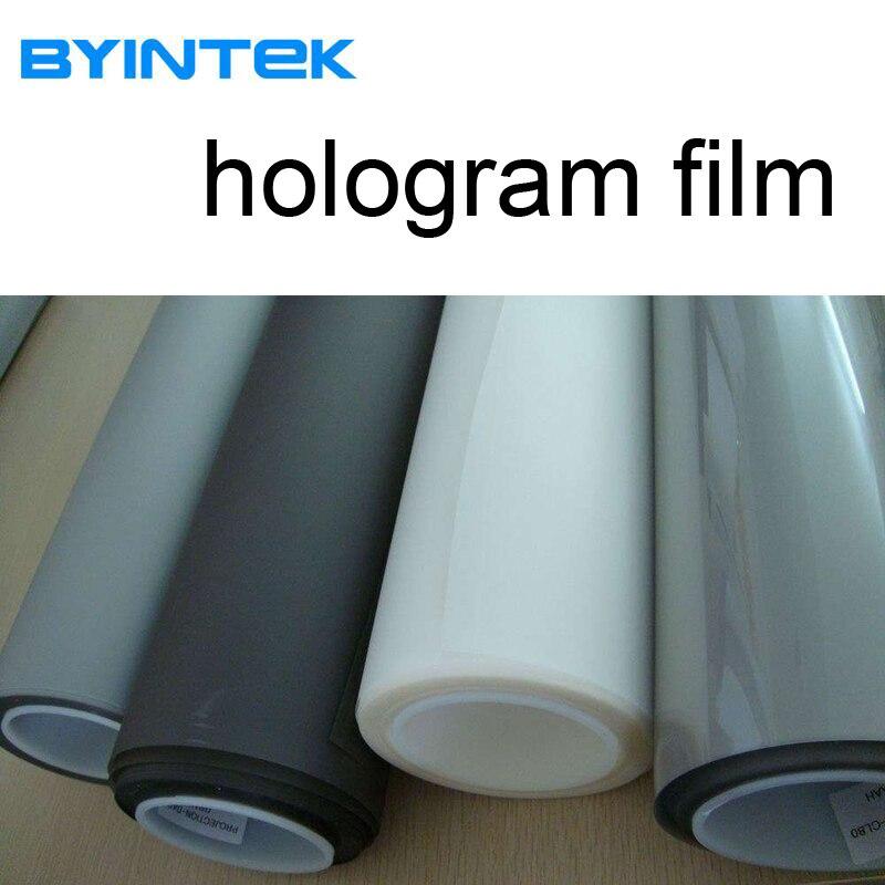 Hologramme publicitaire holographique arrière film adhésif projection 3D projecteur écran film feuille pour fenêtre boutique église hôtel hall