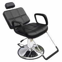 Shellhard Barber Chair Adjustable Reclining Hydraulic Barber Chair Beauty Salon Equipment Black For Home Furniture