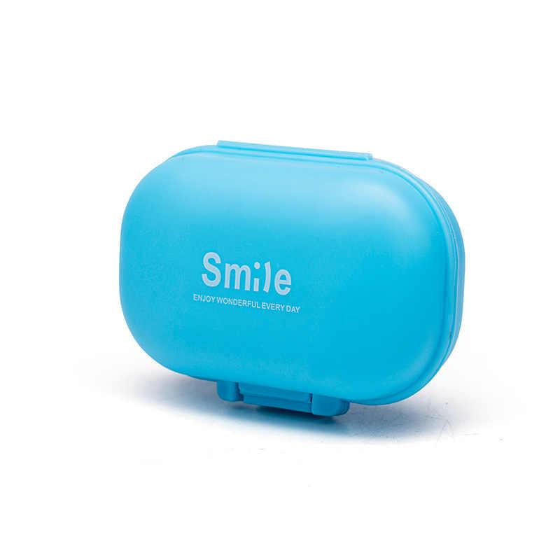 ポータブルミニピルケース薬箱 4 グリッド旅行在宅医療薬タブレット空容器ホームホルダーケース