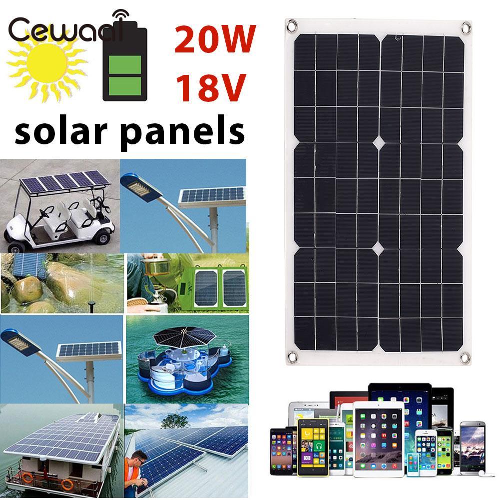 Générateur solaire 20 W 18 V Portable chargeur rapide panneau solaire USB + DC Port charge solaire alimentation de secours Durable