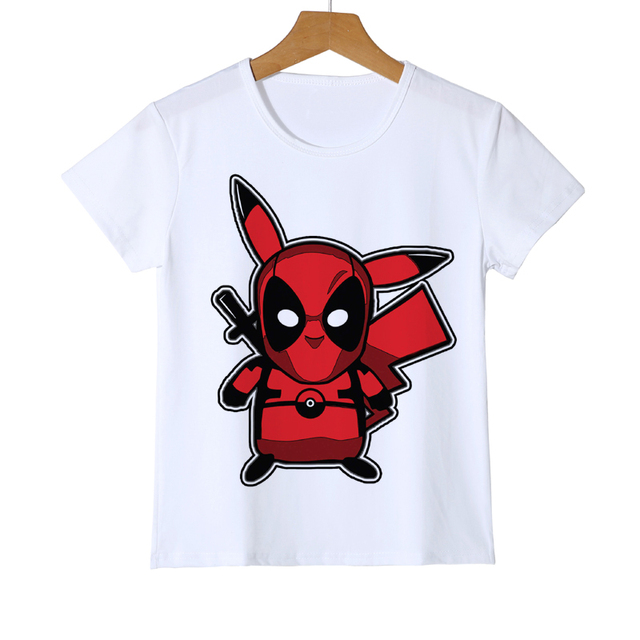 4c3f8c486 3D Cartoon Fashion Pokemon Design tops Shirt Newest Deadpool Pikachu Kid T  shirt Printed Boy Girl Baby Teen T-Shirts Tee Z41-7
