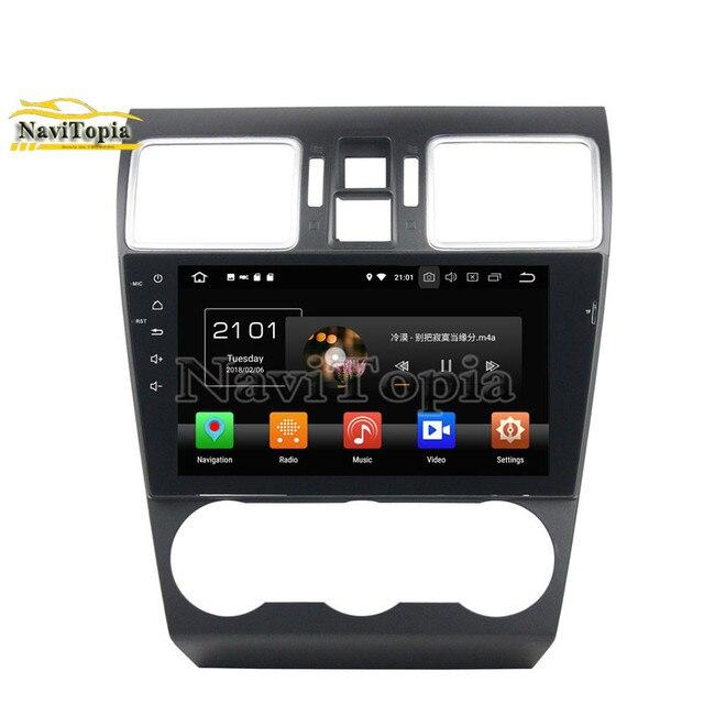 """NAVITOPIA 9 """"4G + 64G Octa Núcleo Android 9.0 Carro Estéreo de Rádio Para Subaru WRX 2014 2015 2016 DVD Do Carro + GPS + Bluetooth + WiFi + Ligação Espelho"""