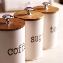 Storage Tank Moisture-proof Cover Steel Kitchen Utensils Multifunction Tea Coffee Sugar Organizer