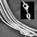 JEXXI Wholesale 10 unids Pura Al Por Mayor 925 Auténtica Plata de ley de Moda Collar de Serpiente Collar de Cadena de Calidad Superior Multi Size