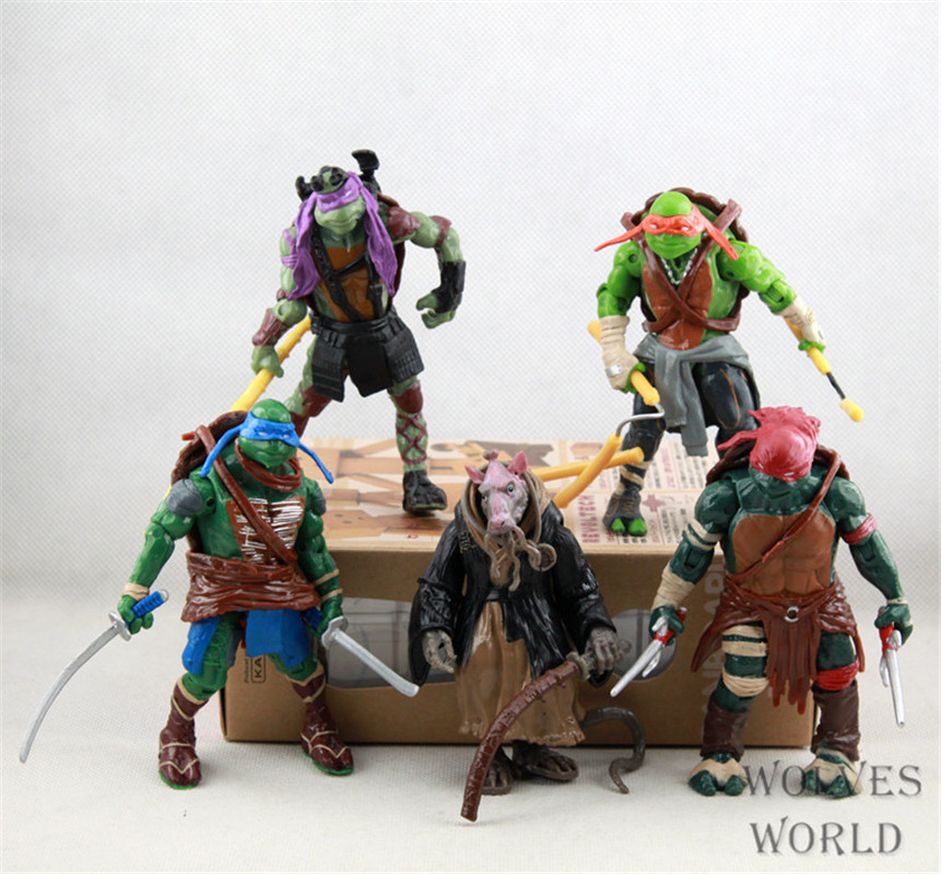 WVW 5pcs/Set Anime Hero Fighting Turtle Model PVC Toy Action Figure Decoration For Collection Gift 5pcs lots 2017 film extraordinary corps mecha five beast hand collection model toy