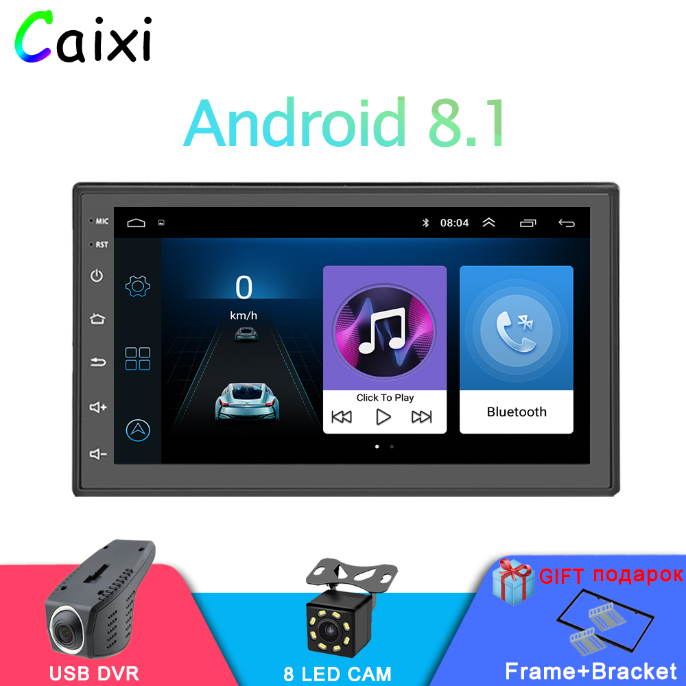 Car Android 8 1 2 Din Car radio Universal Auto Stereo Multimedia Video Player GPS MAP