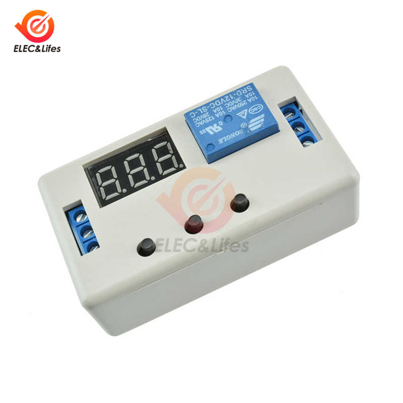 DC 12 V LED Digital Time Delay Relay Modul Programmable Timer Relay Control Switch Waktu Memicu Siklus Relay 3- digit Tabung