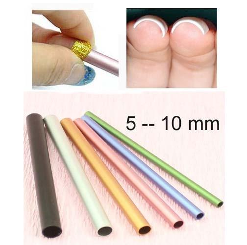 6pcs Set Colorful Metal Rod C Curves Sticks Nail Art Tools For Acrylic Manicure