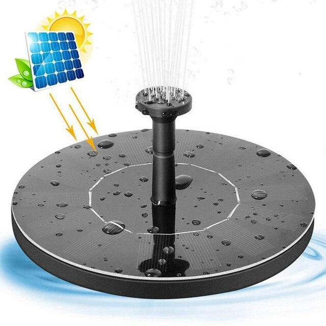 Teich Pumpe Solar Powered Brunnen Garten Dekoration Wasser Schwimm Brunnen Bürstenlosen Wasserpumpe Kit für Vogel Bad Brunnen 2019