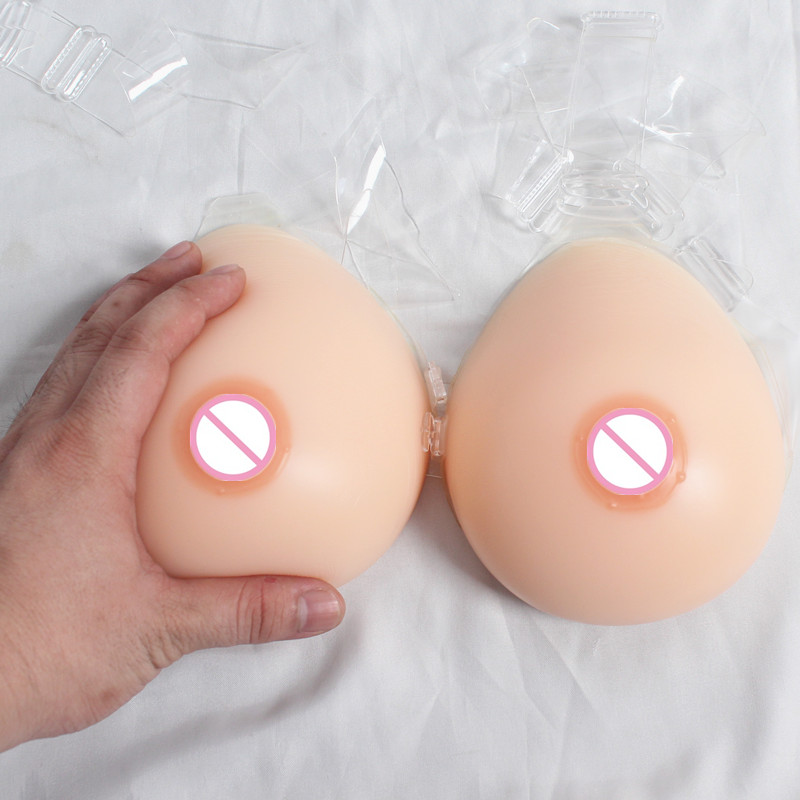 free shipping , sexy straps on tear drop silicone breast form shemale fake boobs crossdresser artificial chest 1200g E cup