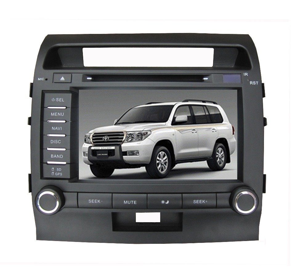 free shipping 8Inch Car DVD Player for Toyota landcruiser land cruiser 200 LC200 Bluetooth GPS Navigation Radio FREE Map+camera
