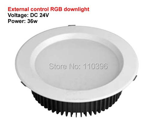 ФОТО high power 12*3w 24v rgb led ceiling downlight 36w recessed sopt kitchen lights for home decorate round shape 2pcs/lot