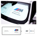 M Powered By Motorsport High Performance Foldable Car Front Rear Windshield Sunshade Sun Shade For BMW X1 X3 X5 X6 1 3 5 series