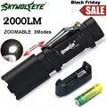 Zoom Q5 Mini LED Linterna del Foco de La Antorcha Light 14500 Batería + ChargerL61221