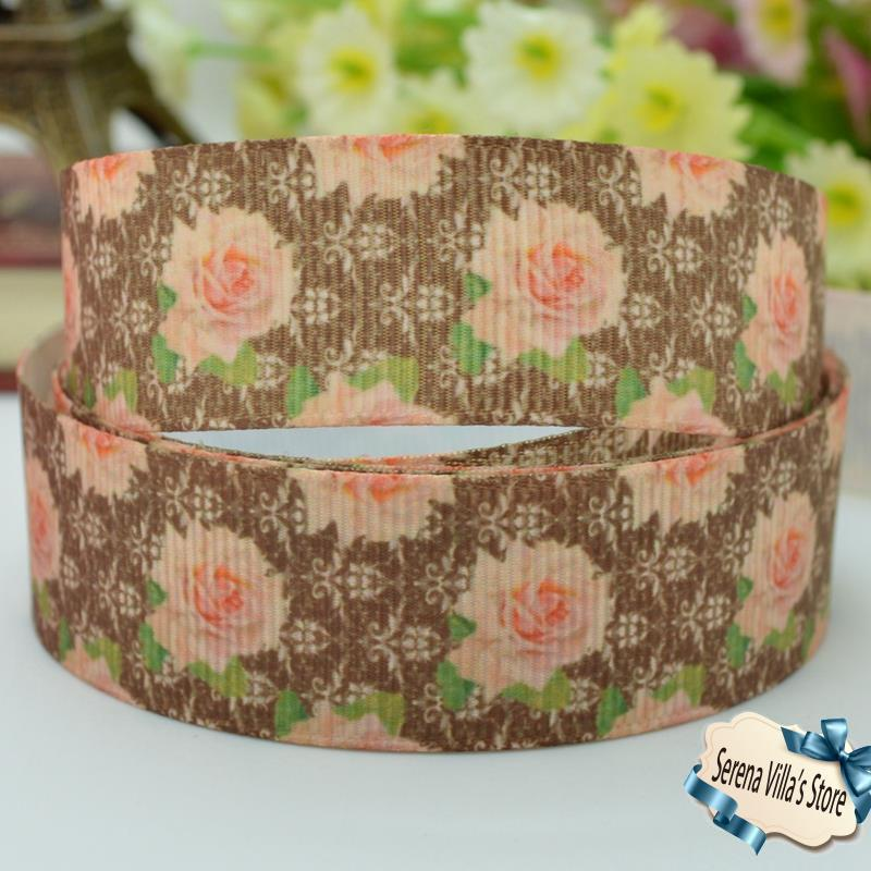 wedding flowers fashion images printed ribbon 7/8 birthday gift paking series party decoration 22mm diy