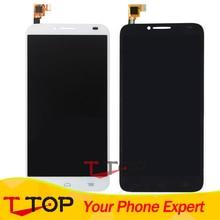 Alcatel One Touch Idol 2 için 6037 6037Y 6037 K OT6037 LCD Ekran + Dokunmatik Ekran Digitizer Meclisi 1 Adet/grup