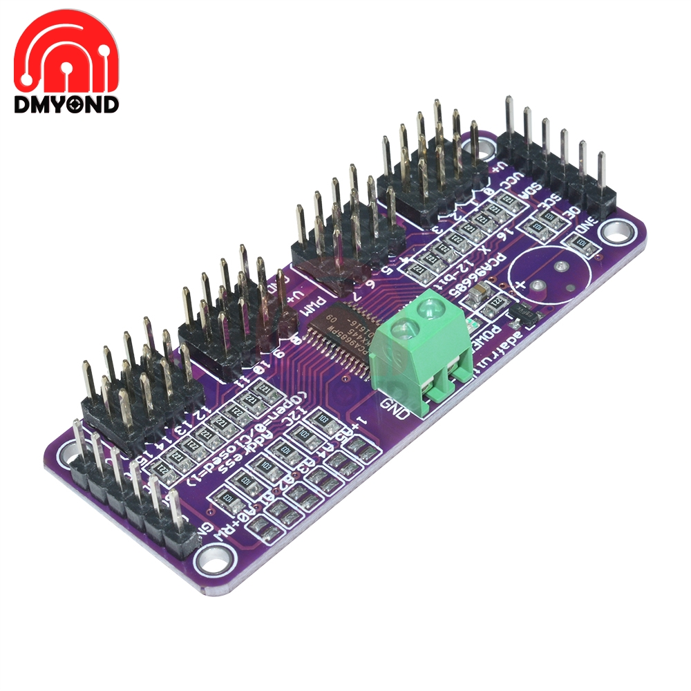 PCA9685 <font><b>16</b></font> Channel 12 bit PWM <font><b>Servo</b></font> <font><b>Driver</b></font> I2C IIC Interface 1.6 KHz PWM <font><b>Servo</b></font> drive module for Raspberry pi shield Board image