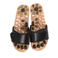 Acupressure Massage Slipper Jade Stone Acupoint Foot Massager Home Outdoor Reflexology Sandals Massage Slippers Shoes