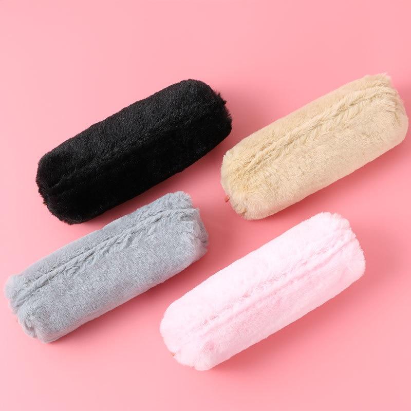 Корейский школьный чехол-карандаш Kawaii, милый плюшевый пенал для девочек и мальчиков, пенал, чехол на молнии, сумочка для косметики, мешочек для канцелярских принадлежностей, школьные принадлежности 6