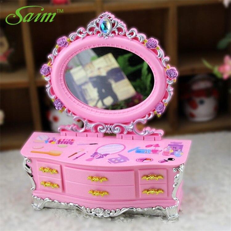 Saim Dressing Table Music Box Girlfriend Birthday Gift Music Boxs Plastic Jewelry Storage Box Gift