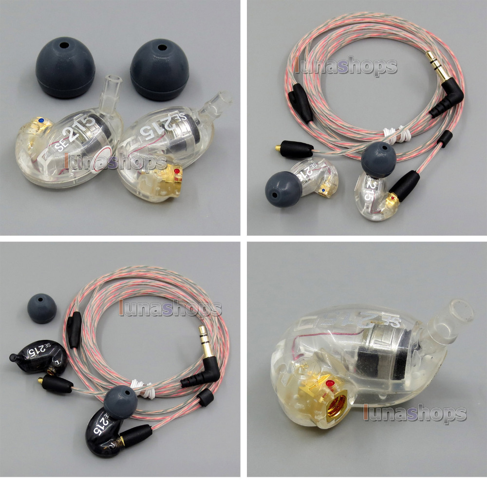 Free shipping 85%-75% New Used Original Genuine Earphone + DIY cable For In Ear Shure SE215 Noise Sound Isolating LN005093