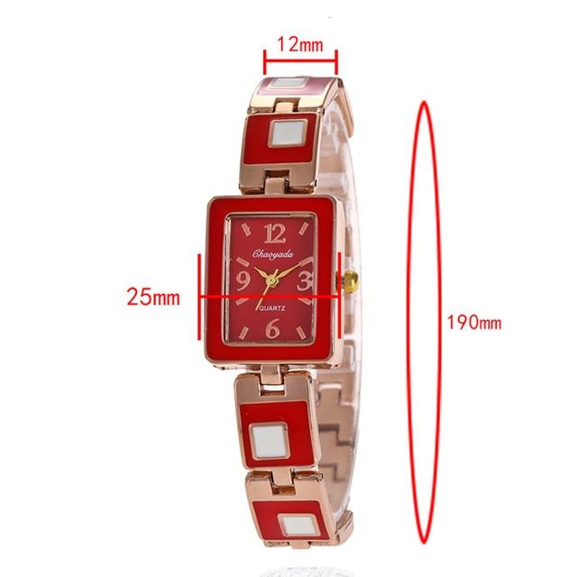 2018 ladies dress women girls fashion diamond luxury quartz electronic wristwatches square personality bracelet watches clock