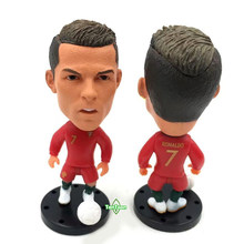 New arrival Soccer Star 2018 Portugal with boll 7# C.Ronaldo 6.5cm Height Resin Dolls Action figure toys(China)