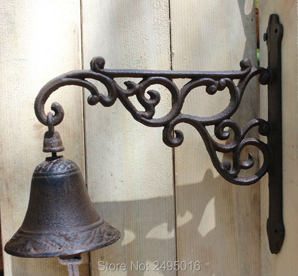 B026 - European Antique Vintage Rustic Flower Fairy Iron Welcome Door Bell