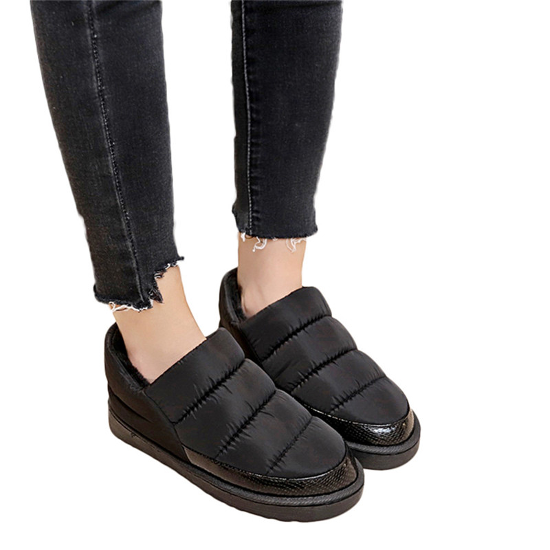 Size 35-43 Waterproof Women Winter Shoes Snow Boots Warm Fur Inside Antiskid Bottom Keep Warm Mother Casual Boots Bare Shoes#40A size 35 43 waterproof women winter shoes snow boots warm fur inside antiskid bottom keep warm mother casual boots bare shoes 40a