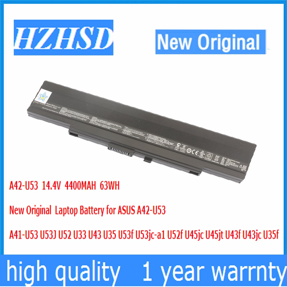 14 4V 4400MAH 63WH New Original A42 U53 Laptop font b Battery b font for ASUS