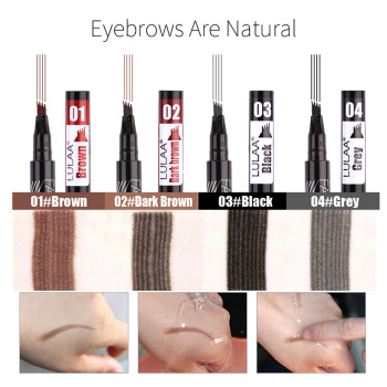 2019 Microblading Eyebrow Pencil Waterproof Fork Tip Tattoo Pen Tinted Fine Sketch Eye Brow Pencils Long Lasting Eyebrows