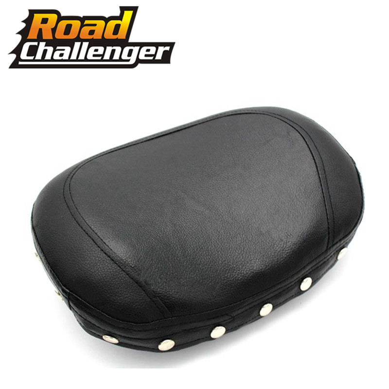 Motorcycle Leather Sissy Bar Pad Backrest Cushion Pad Motorbike Seat Cover Pad For Harley Choppers Touring