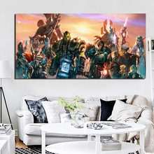 World Of Warcrafts Horde And Alliance Canvas Painting Living Room Home Decoration Modern Wall Art Oil Painting Posters Pictures