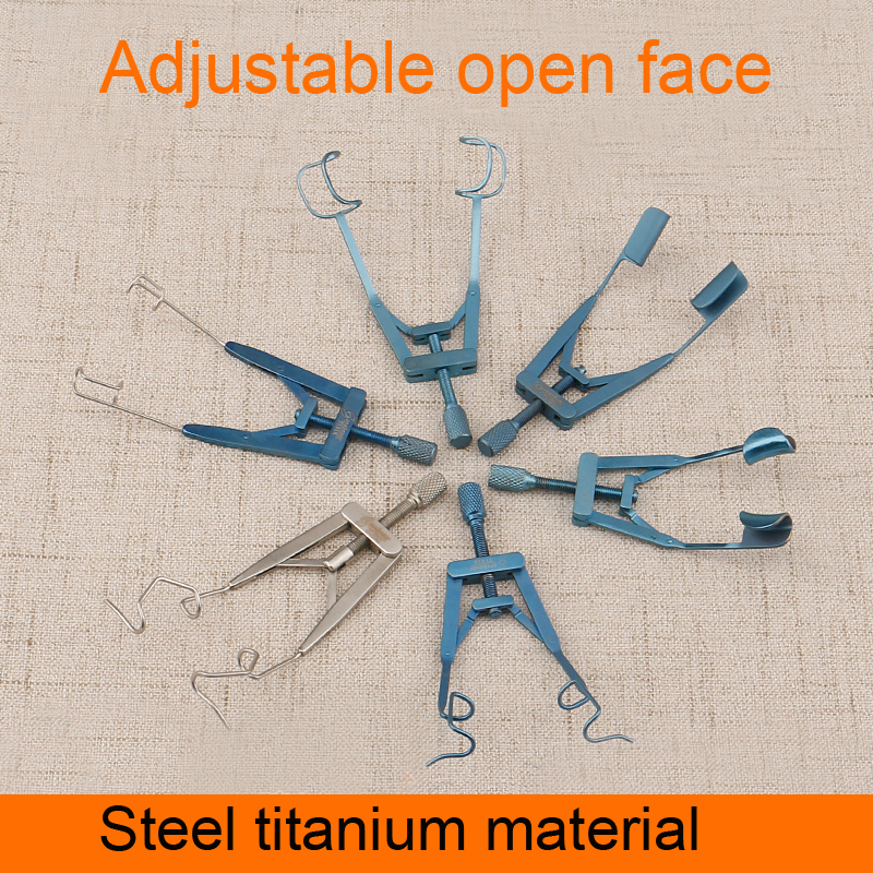 Ophthalmic Instruments Titanium Alloy Opener Adjustable Spreader Eyelash Fixable Seal Stainless Steel Instrument