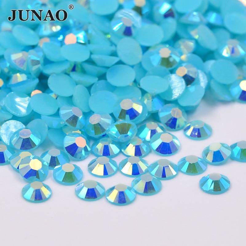 2 3 4 5 6 mm Blue Zircon AB Resin Crystal Rhinestone Flat Back Nail Strass  Crystal Stones Scrapbooking Craft Clothing a5c2e059d04b