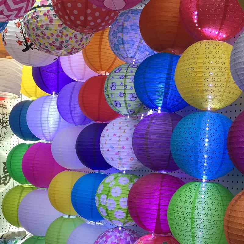 """Doprava zdarma, 10ks / lot, 8 """"(20 cm) čínský kulatý papírový lampový kryt lampy pro osvětlení svátků a svatebních oslav"""