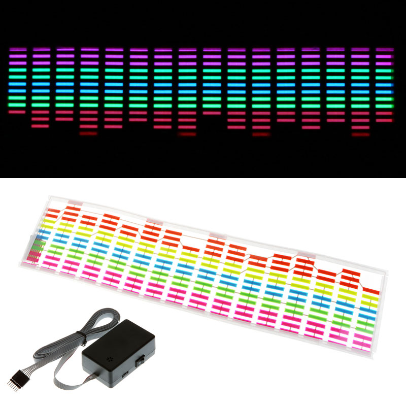 New Car Styling Designed Car Sticker Music Rhythm LED Flash Light Lamp Sound Activated Equalizer Car Atmosphere Led Light